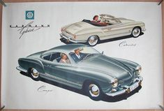 Classic Car News Pics And Videos From Around The World Vw Vintage, Vintage Porsche, Volkswagen Karmann Ghia, Volkswagen Golf, Audi, Car Advertising, Porsche 356, Small Cars, Classic Cars