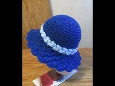 Crochet Sunshine Shell Hat Part 3 Sombrero A Crochet, Crochet Baby Beanie, Crochet Baby Clothes, Crochet Videos, Crochet 101, Crochet Yarn, Crochet Stitches, Baby Knitting Patterns, Stitch Patterns