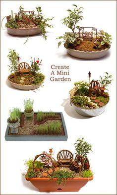 When you live in apartment and you just want a fairy garden. Create a mini garden-a Fairy Garden! - DIY Fairy Gardens