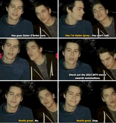 Dylan O´Brien and Dylan Sprayberry movieawards.mtv.com