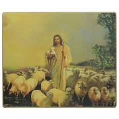 This leather canvas image of Jesus the Good Shepherd is so beautiful! It would be a blessing to have in any home.