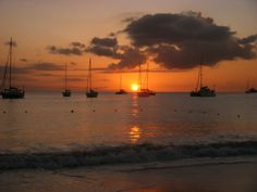 Sunset in Bridgetown, Barbados