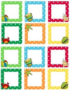 This file contains blank beach themed calendar squares. They work great with behavior management. These also coordinate with the other beach themed...