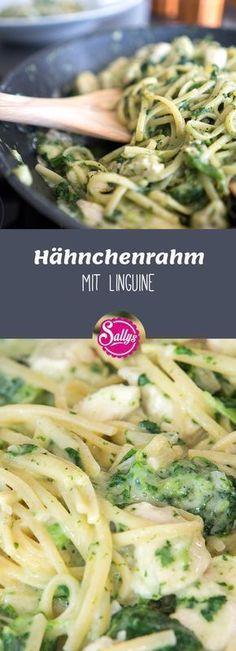 Saftiges Hähnchenfilet in Spinat-Rahmsoße mit Linguine – aus einem Topf.