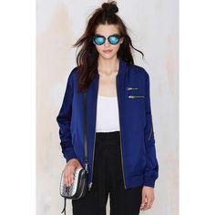 Nasty Gal Aviation Bomber Jacket ($55) ❤ liked on Polyvore