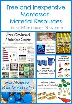 If you're a Montessori teacher, preschool teacher, or homeschooler looking for free and inexpensive Montessori materials for your classroom, I have lots of amazing resources for you.