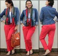 blog vitrine @ugust@ LOOKS | por leila diniz: jaqueta jeans+cores (calça restart! risos) + msg DEUS: a simplicidade conduz à liberdade e à autenticidade.