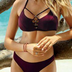 Shop - CHEAP PRICE Halter Bikini, Bikini Beach, Sexy Bikini, Bikini Set, White Mini Skirts, Orange Color, Bathing Suits, Burgundy, Swimwear