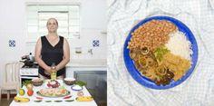 Ivonete Tortoretti Correa, 64-Sao Paulo Brazil- Rice, farofa (flour),beans, and meat.