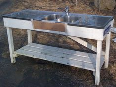 Diskbänk Outdoor Kitchen Patio, Outdoor Decor, Open Shed, Outside Sink, Umea, Rustic Kitchen, Glamping, Diys, Pergola