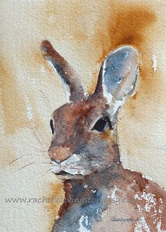 picture of Bunny Rabbit PRINT of easter от rachellelevingston