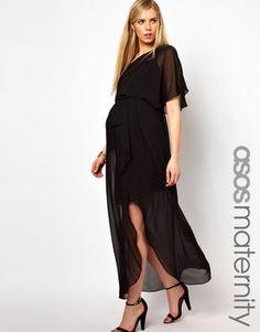 25a22f2d4f Asos One Shoulder Drape Maxi Dress - ShopStyle Maternity