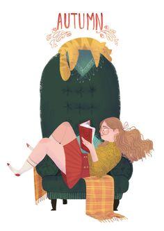 Otoño… seguimos leyendo (ilustración de Ipek Konak)