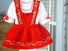 Dirndl dress for a Baby