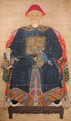 Chinese, Qing Dynasty, Ancestor Portrait, early 19th century, color painting on paper | Collection of Dr. Paul and Esther Wang