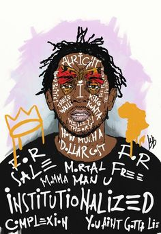 Rap Music And Hip Hop Culture Collection Hip Hip, Kendrick Lamar Art, King Kendrick, Baile Hip Hop, Kung Fu Kenny, To Pimp A Butterfly, Butterfly Art, Mode Hip Hop, Rapper Art