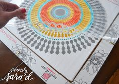 Cutting Edge Stencils shares how to create the perfect accent pillow to match your decor using the Funky Wheel Paint-A-Pillow kit. Cutting Edge Stencils, Perfect Pillow, Accent Pillows, Beach Mat, Campaign, Outdoor Blanket, Kit, Medium, Create