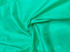 Jungle Green Mulberry Silk Fabric/100% Pure Silk Fabric, plain silk fabric made with handloom, Fabric by the yard. by TheSLVSilks on Etsy Dupioni Silk Fabric, Raw Silk Fabric, How To Dye Fabric, Cool Fabric, Scarf Curtains, Natural Protein, Silk Bedding, Green Silk, Mulberry Silk