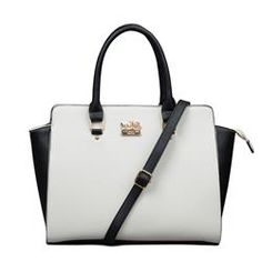 Coach Riley Carryall In Saffiano Medium White Satchels ELQ