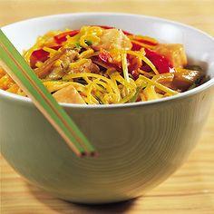 Currynudeln mit Kokosmilch