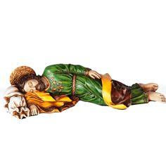 "Sleeping St Joseph | Colored Statue | Resin | 10"" - F.C. Ziegler Company"