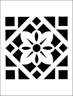 Tile stencil from The Stencil Library BUDGET STENCILS range. Buy stencils online. Stencil code MS102.