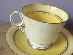 Antique 1920's yellow tea cup vintage Paladin by ShoponSherman, $59.00