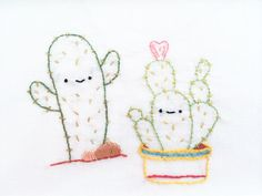 Kawaii Cactus Patterns // wild olive