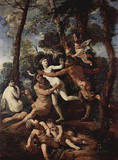 Pan and Syrinx, by Nicolas Poussin (1637)
