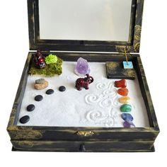 Jardín Zen meditación caja / / hecho por encargo / / por NeonFoxArt