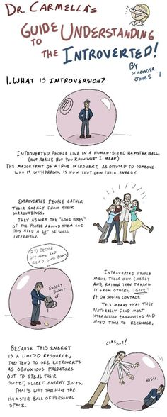 """How to Live With Introverts pt1: Artist Schroeder Jones has created """"How to Live With Introverts,"""" a comic that accurately portrays how introverts view social situations and offers tips on how best to interact with them."""