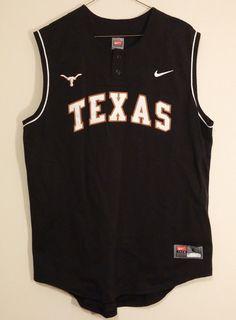 Texas Longhorns #15 Black SEWN Nike Mens Sports Jersey Size Large #Nike #TexasLonghorns
