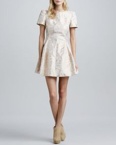 Would love to buy this Cameo Star of Wonder Jacquard Dress - Neiman Marcus for the holidays.