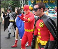Six Flags St. Louis Super Heroes and Heroines When I go this time I'm not going to be scared to take pictures with the people! Lol
