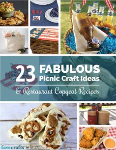 """23 Fabulous Picnic Craft Ideas + Restaurant Copycat Recipes"" free eBook 