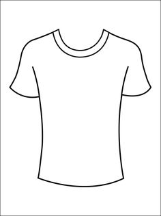 Kleurplaat T-shirts   Gratis kleurplaten