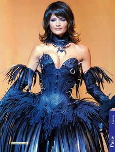 Helena Christensen in Thierry Mugler. This might be one of the heaviest and most challenging things I have dressed on a mannequin #metmuseum #wildstyle