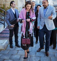 Queen Rania of Jordan visited the oldest Arabic sweet shop in the heart of Al Salt on Monday. The Queen also toured Beit Aziz lodging, which was built in the early 1900s and recently restored to become the first bed and breakfast in Al Salt, overlooking panoramic views and important mosques and churches in the old city.