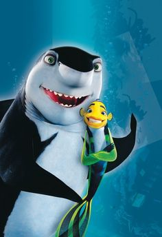 Pin for Later: Halloween: Over 100 Disney Costumes That Will Win Every Contest Shark Tale Options: Frankie and Lenny the sharks, Oscar the fish, Lola the fish, Angie the fish Lenny Shark Tale, Lenny The Shark, Good Animated Movies, Animated Movie Posters, Dreamworks Movies, Dreamworks Animation, Animation Movies, Animation Studios, Movie Halloween Costumes