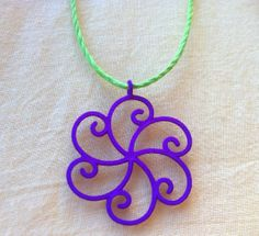 Colorful Golden Spiral Necklace by FiboDesigns on Etsy, $15.00