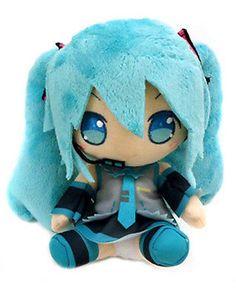 Vocaloid 8'' Miku w/ Microphone Prize Plush Doll Anime Manga MINT