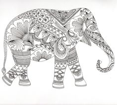 Animales Fantásticos. Zentangle