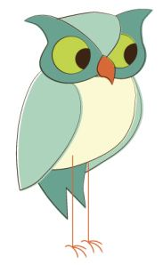 Day 331: Teal Retro Owl from http://owladay.wordpress.com/