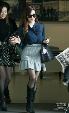 12 hrh says. Better double up on my spinich nuts dark chocolate and garlic. Lots of laughs. Your Knight. Snsd Airport Fashion, Snsd Fashion, Fashion Outfits, Girls' Generation Tiffany, Girls Generation, Kpop Girl Groups, Kpop Girls, Taeyeon Jessica, Mary Jane Pumps