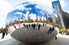 The technique employed to build Cloud Gate is noteworthy given that the sculpture is made from 168 sheets of stainless steel, and its surface, for increased shininess, does not have any visible soldering marks. | inoxstyle.com