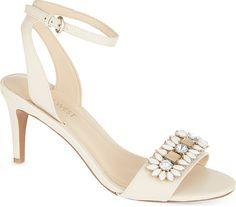 Nine West Jenetter Floral Heeled Sandals - for Women, Winter White