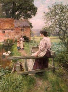 By a Watermill ~ Henry John Yeend King ~ (English: 1855-1924)