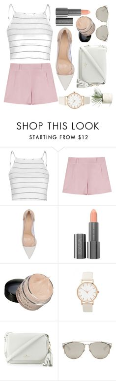 """Sad but Fab"" by black-hearted ❤ liked on Polyvore featuring Glamorous, Gianvito Rossi, ZOEVA, Kate Spade, Christian Dior and Allstate Floral"