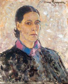 """Self-Portrait"" 1943 by Anne Redpath (Scottish 1895-1965)"