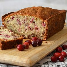 """CRANBERRY MAPLE PECAN BREAKFAST LOAF CAKE -  from Joanne Chang, owner of Flour Bakery, courtesy of  her cookbook  """"Flour: Spectacular Recipes from Boston's Flour Bakery + Cafe"""""""